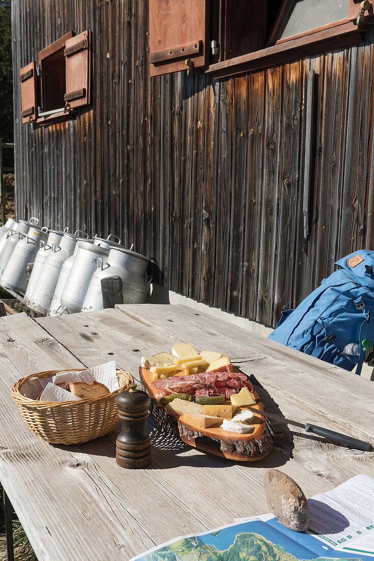 A supper platter on Mount Rigi, Lucerne, Switzerland