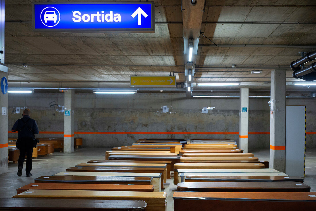 Collserola Mortuary, Spain, during Covid-19 outbreak