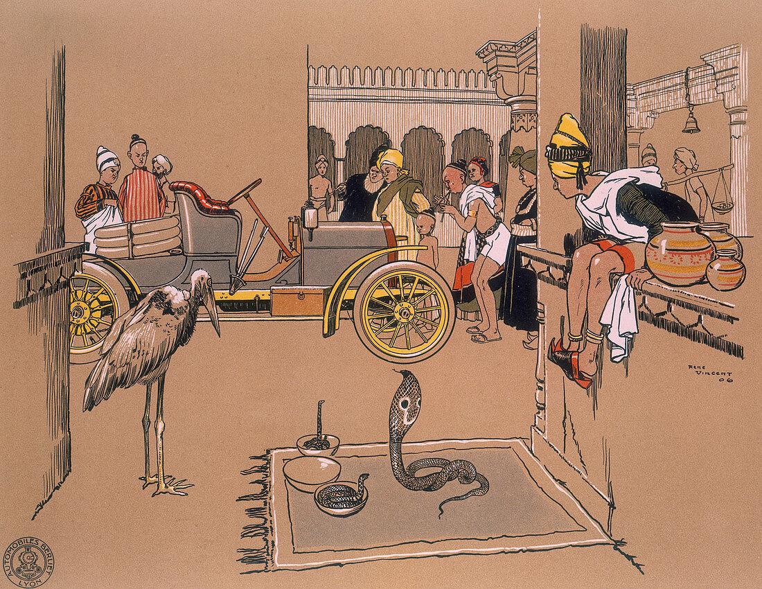 A Berliet car in a Bazaar, 1907