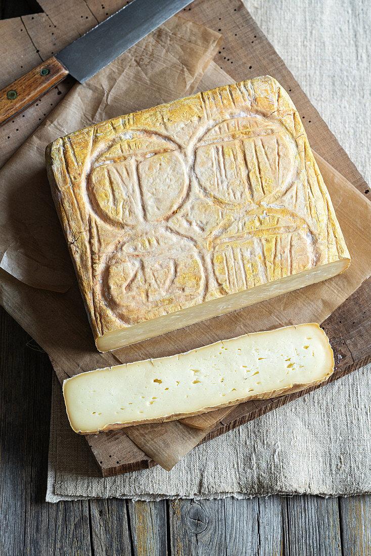 Taleggio (cheese from the Bergamo Alps, Italy)