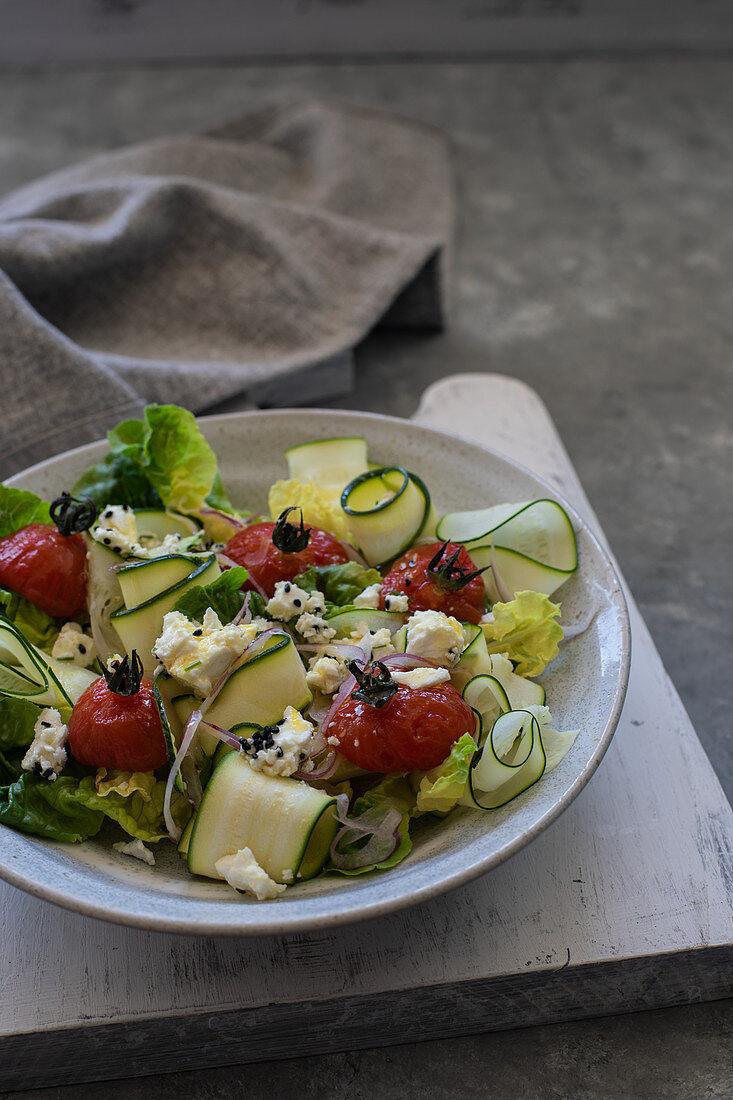 tomato and zucchini salad