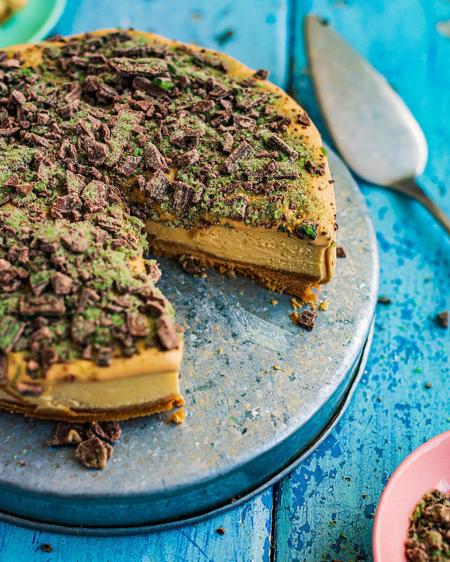 Peppermint Crisp Cheesecake