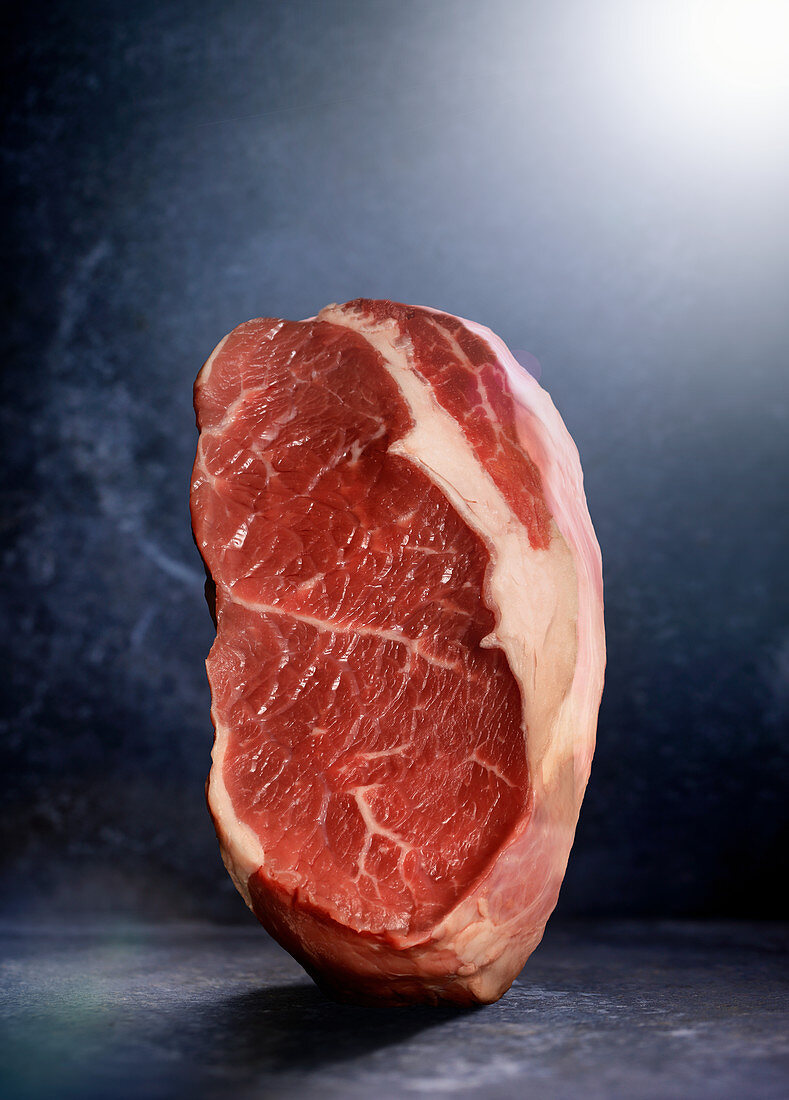 Raw buffalo steak