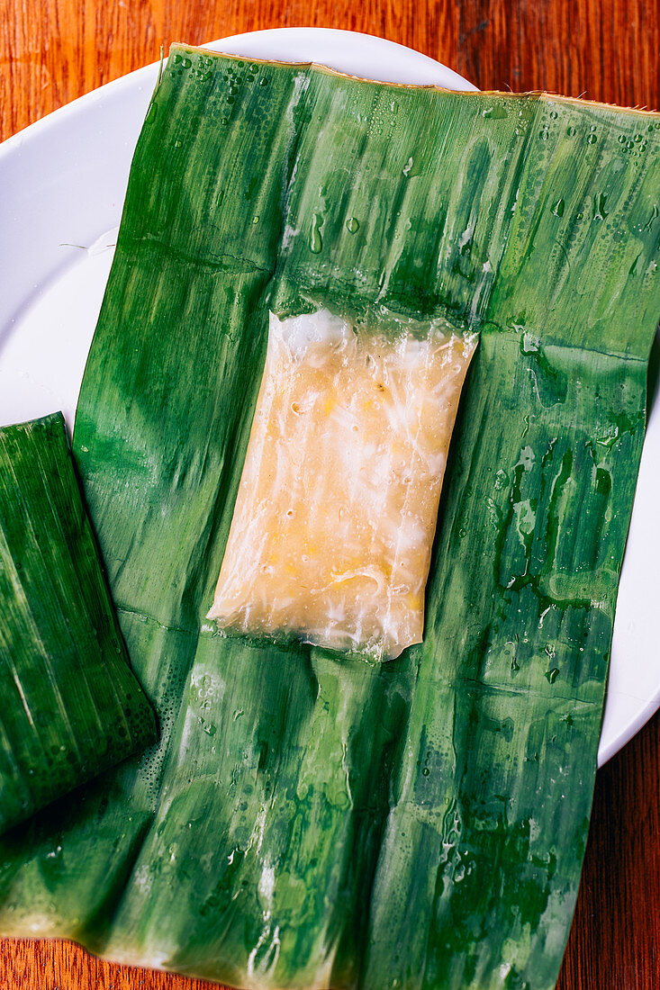 Thai Name - Banana leave with stuffing (Thailand)