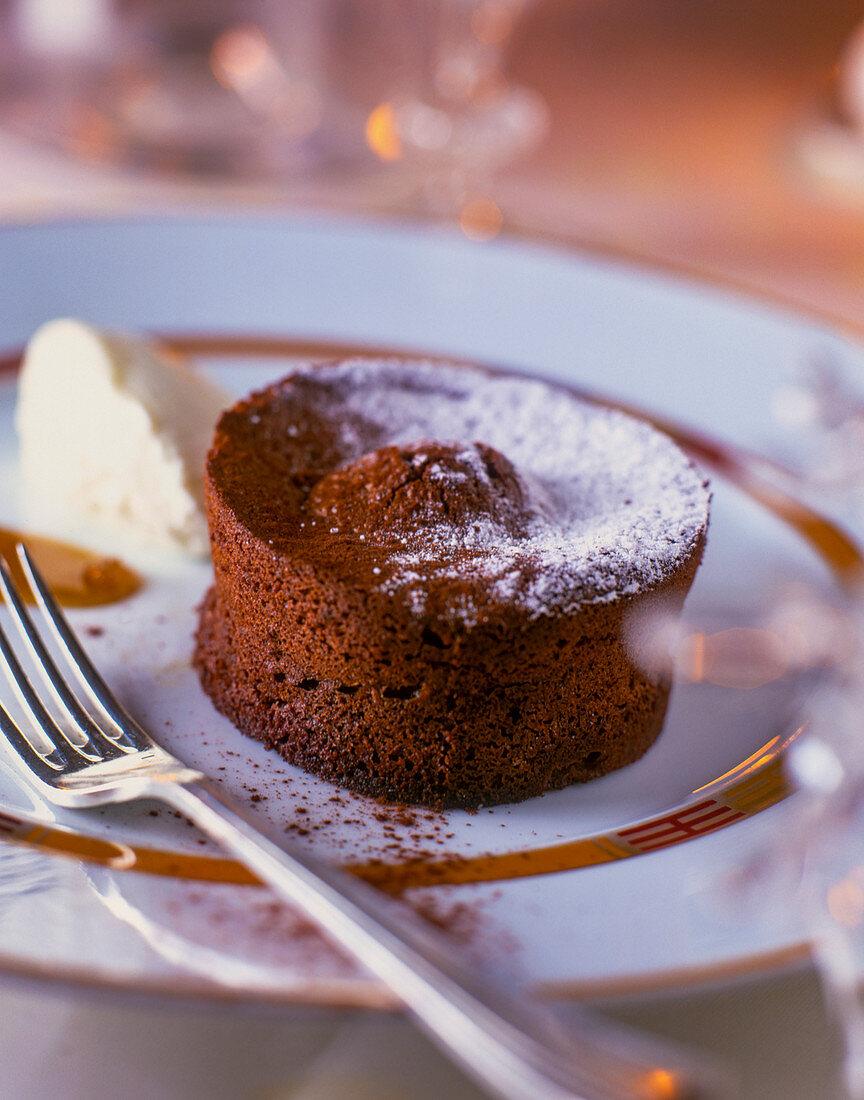 Moelleux au chocolat (chocolate cake, France)
