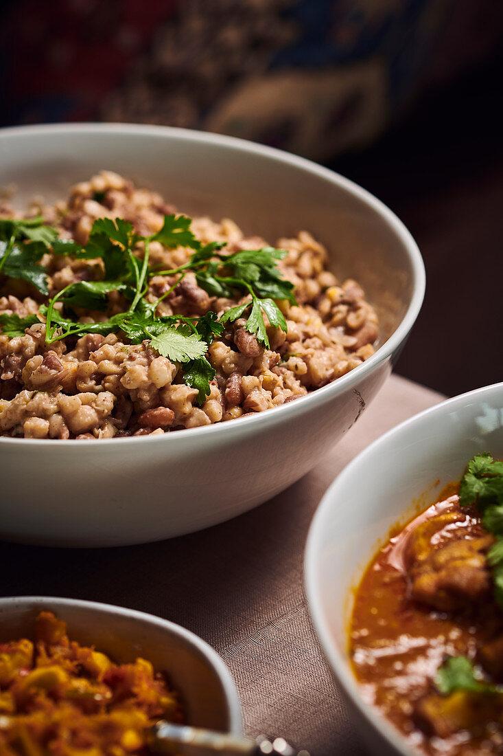 Samp and Beans (Traditionelles Mais-Bohnen-Gericht, Südafrika)