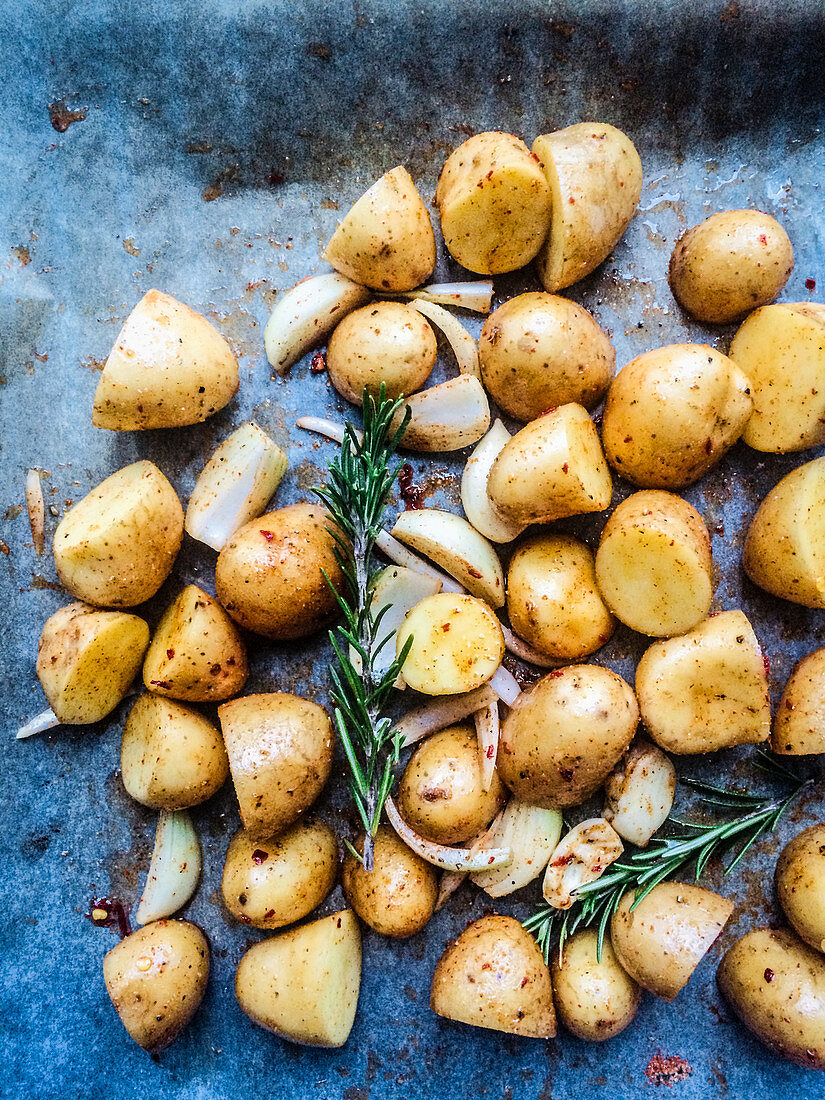 Rosemary potatoes fresh from the oven