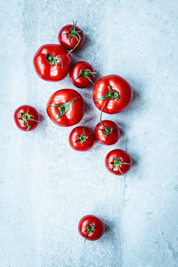 Several tomatoes