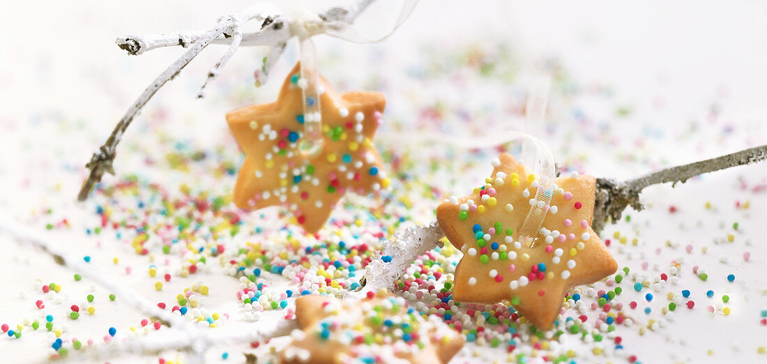 Colourful Christmas cookies