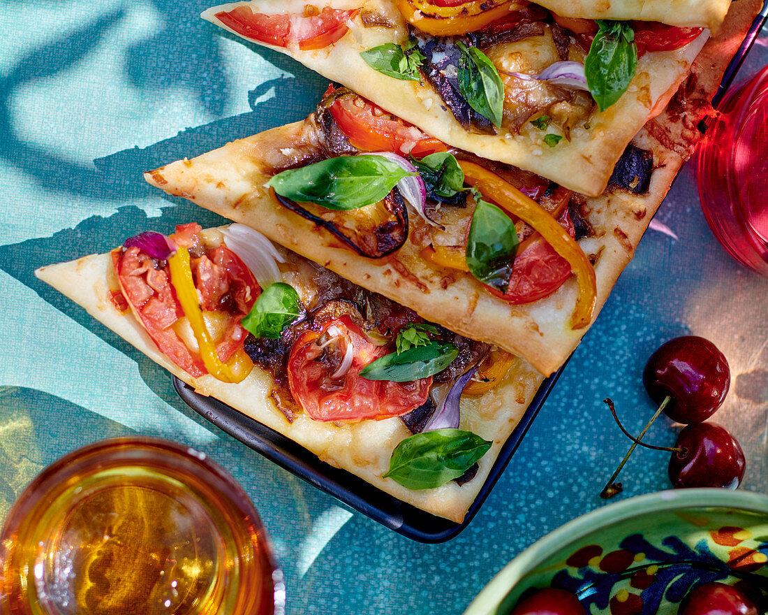 Ratatouille pizza slices