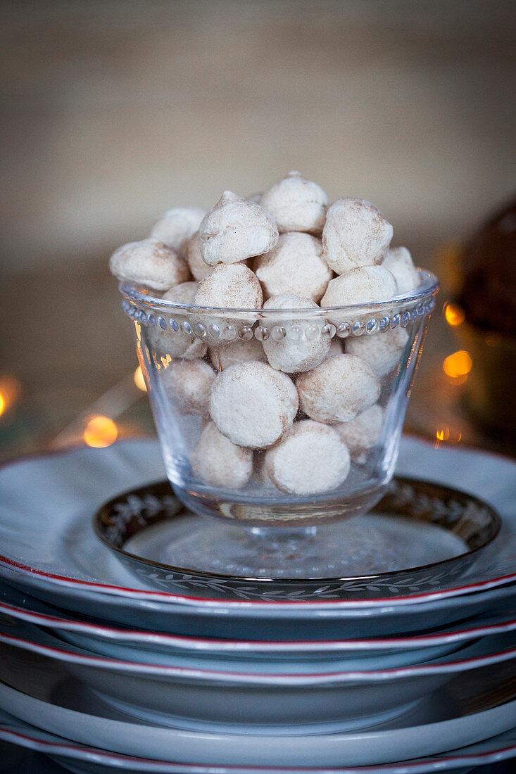 Christmas almond bites