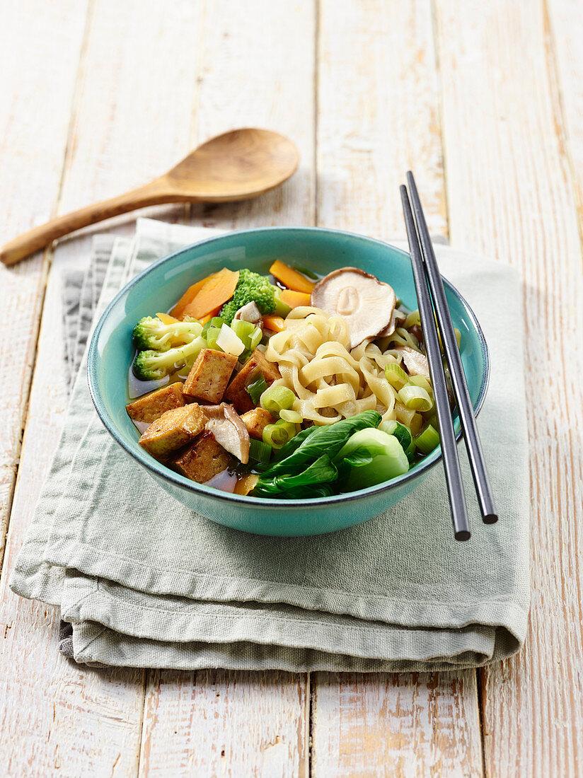 Ramen with tofu