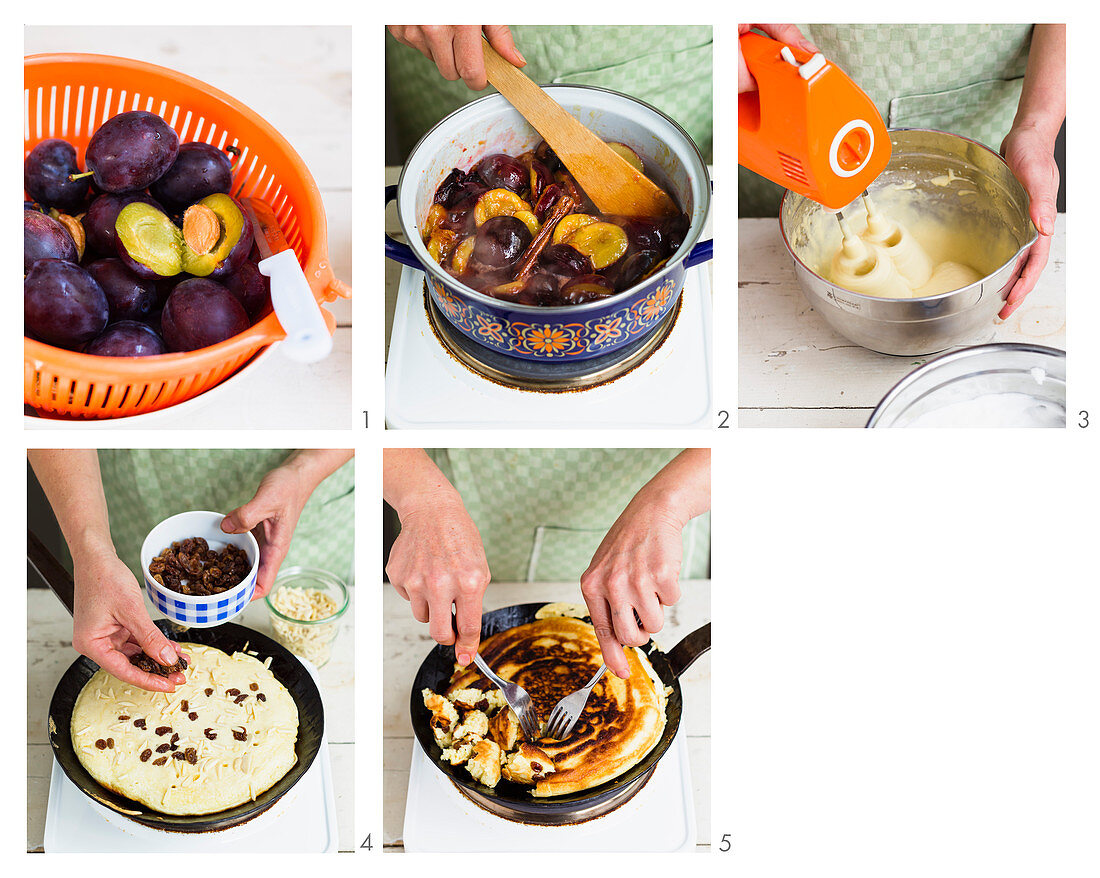 How to make kaiserschmarrn with stewed plums