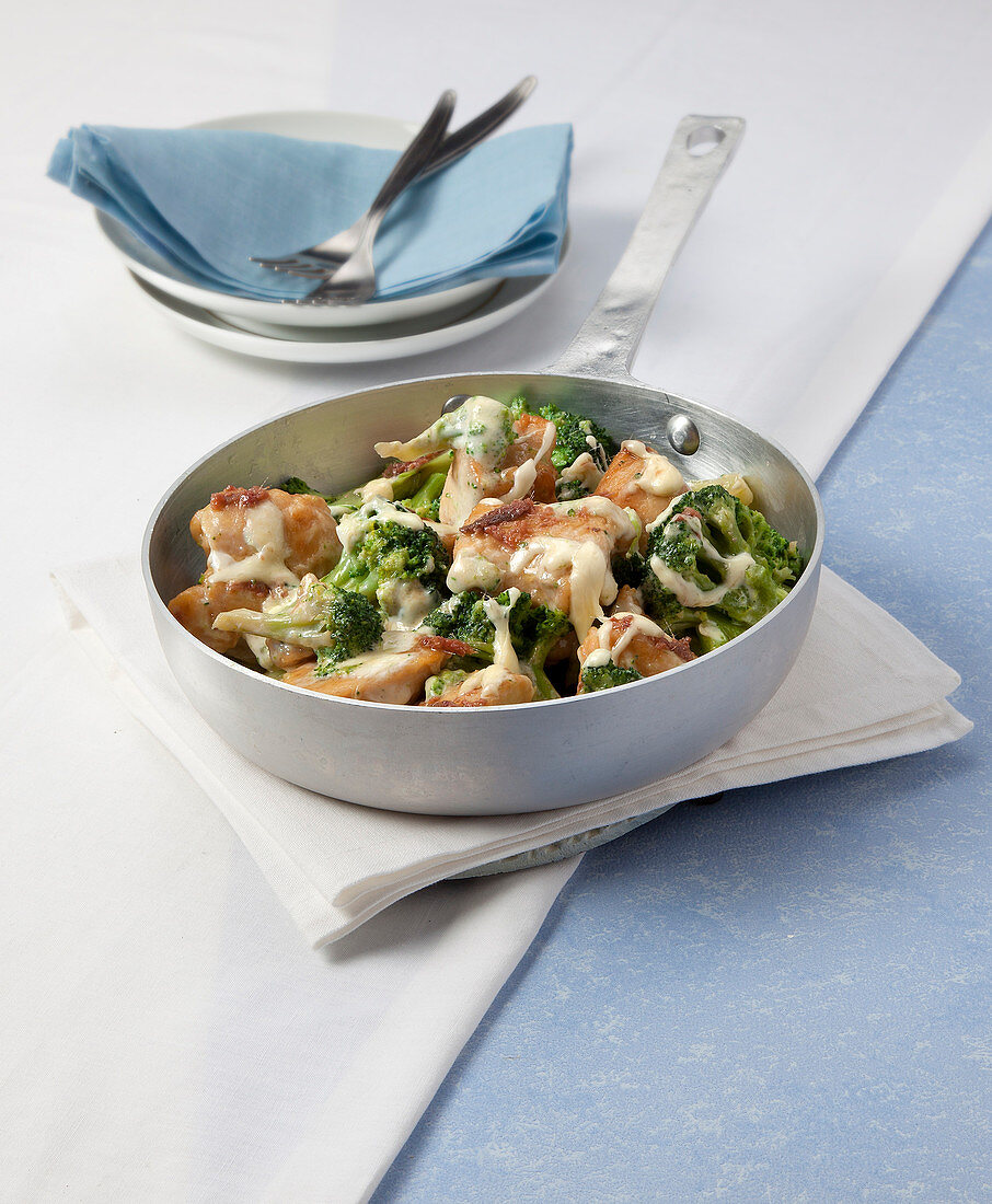 Chicken and broccoli with cheese