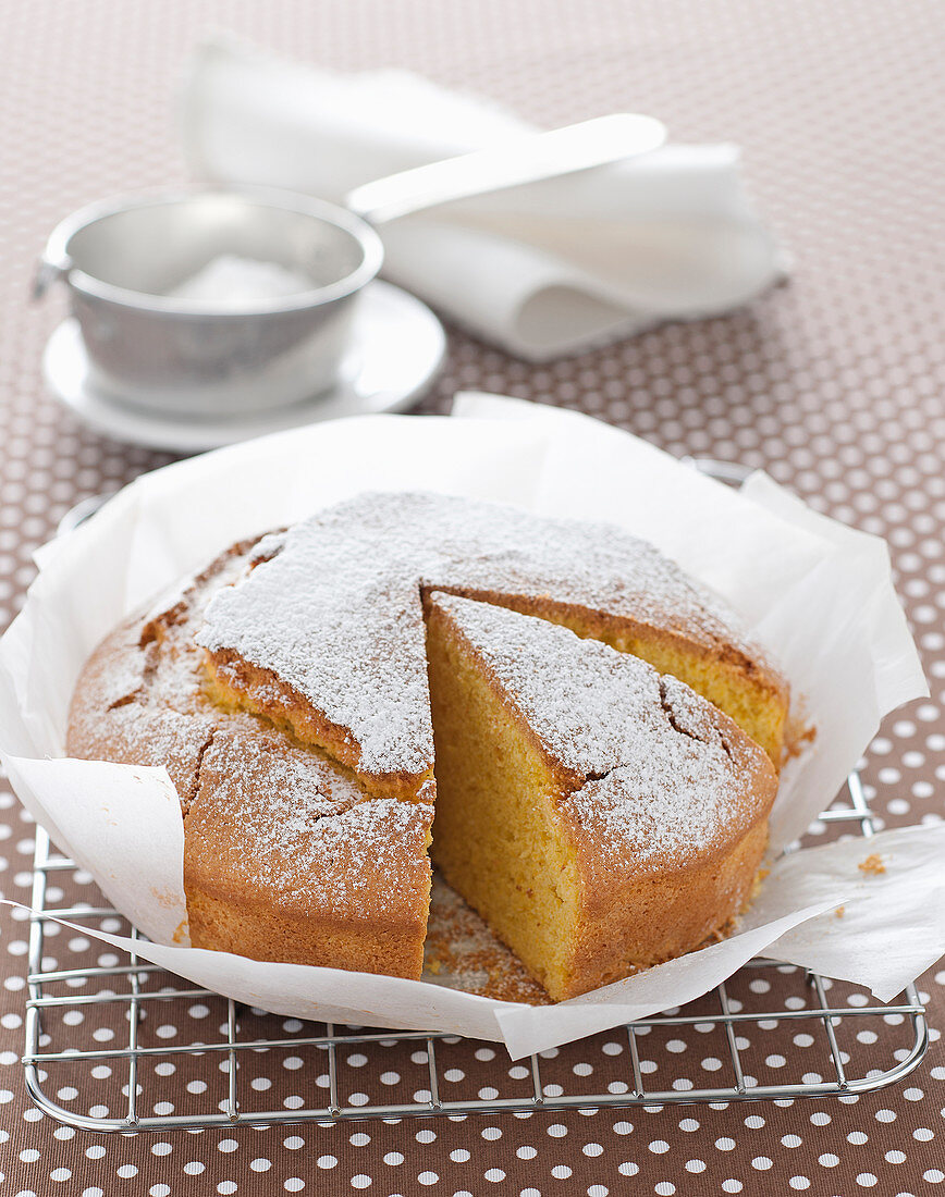 Carrot and almond cake