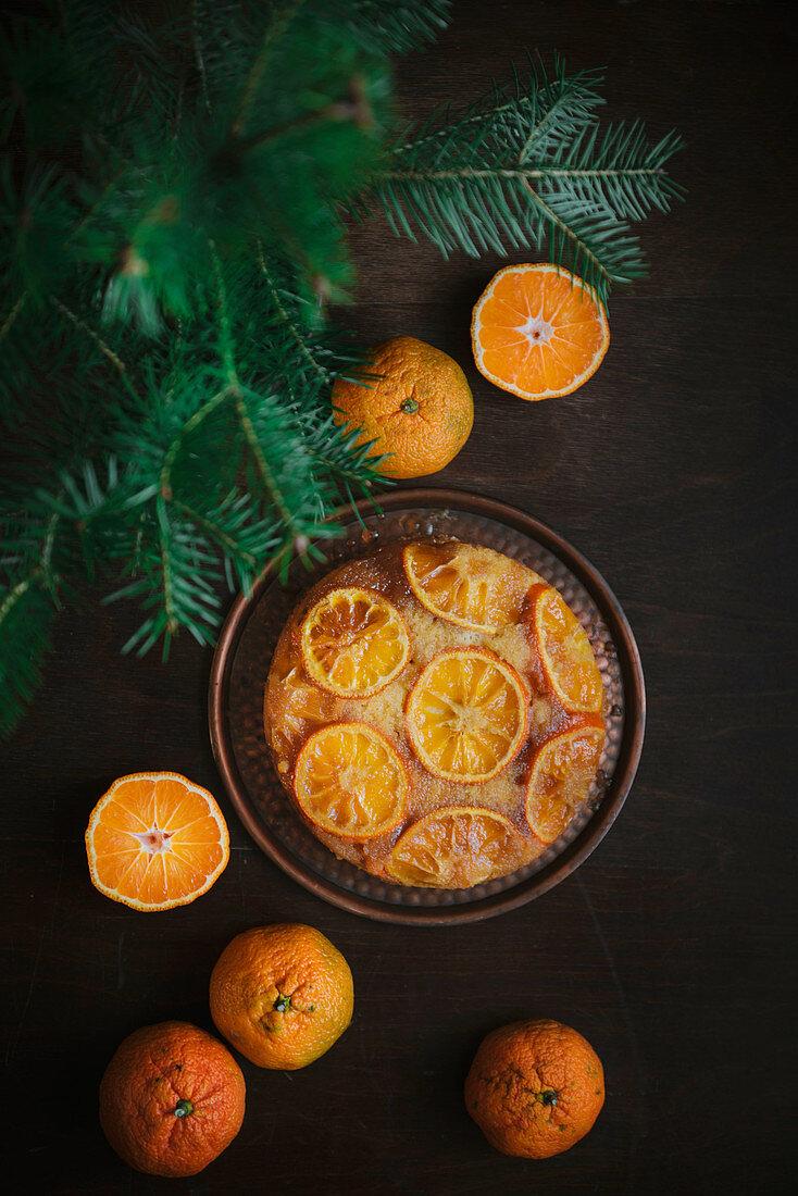 Upside Down Tangerine Cake