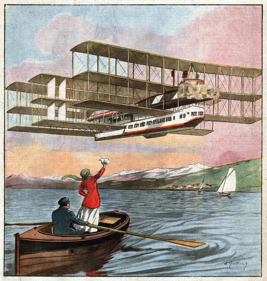 Caproni hydroplane, illustration