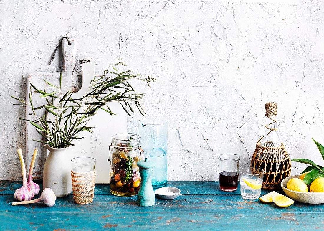 Background, tumbler, salt, shaker, jug, jar, pot plant, plants