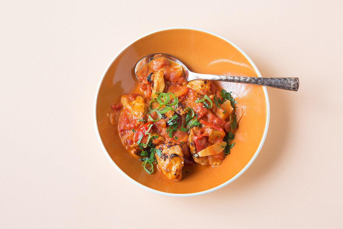 Indian butter chicken (keto cuisine)