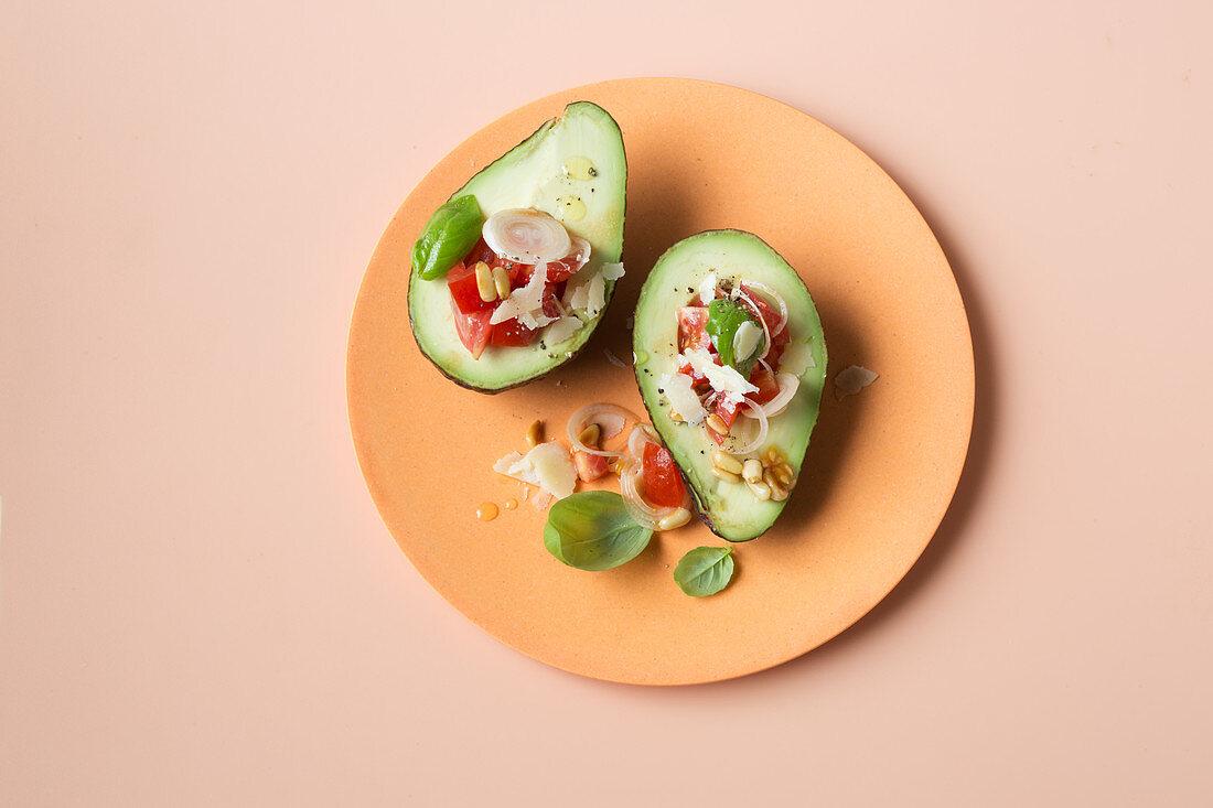 Stuffed avocado (keto cuisine)