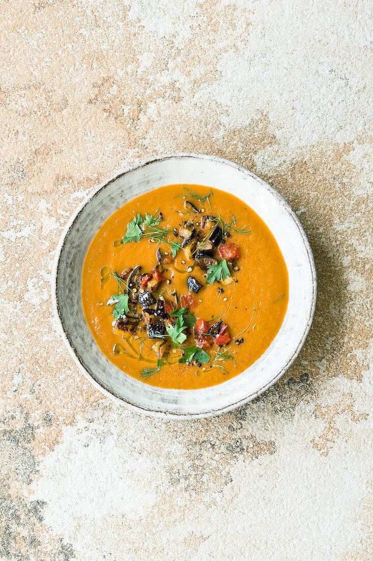Israeli aubergine soup