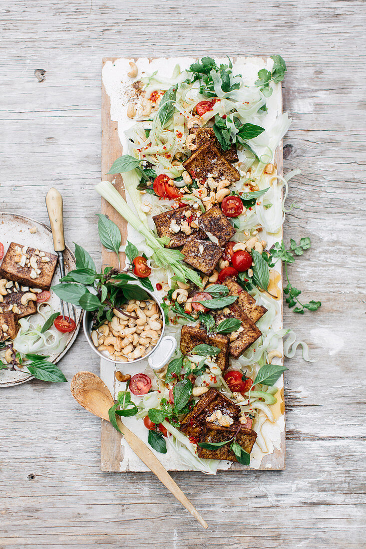 Salt and Pepper Tofu with Fennel Salad