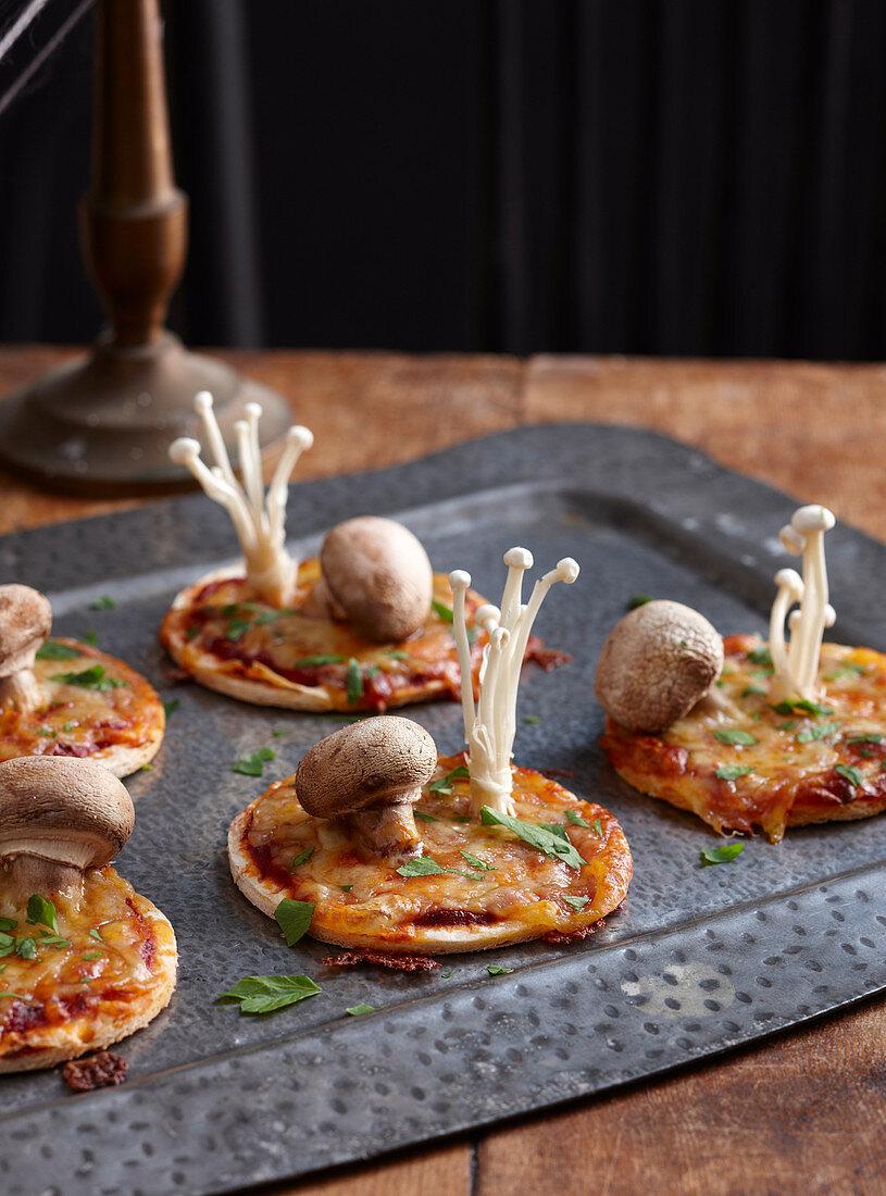 Healthy Halloween:Toadstool Pizzas