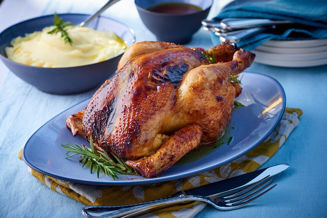 Stuffed chicken with marmalade
