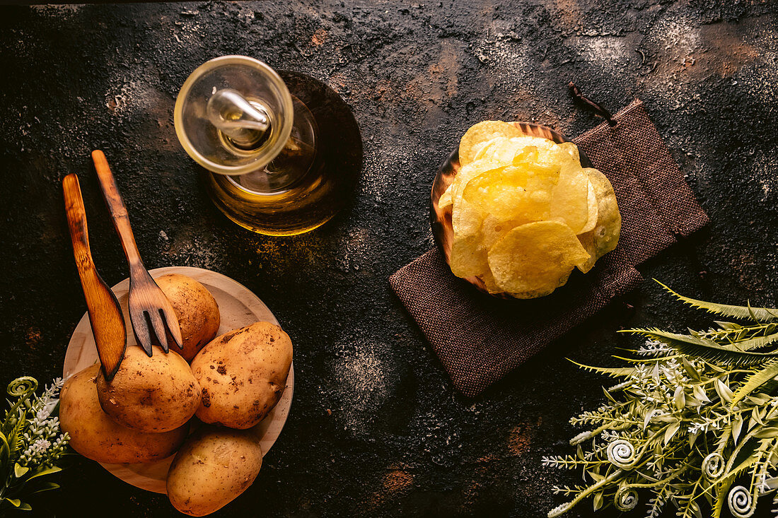 Homemade potatoe chips