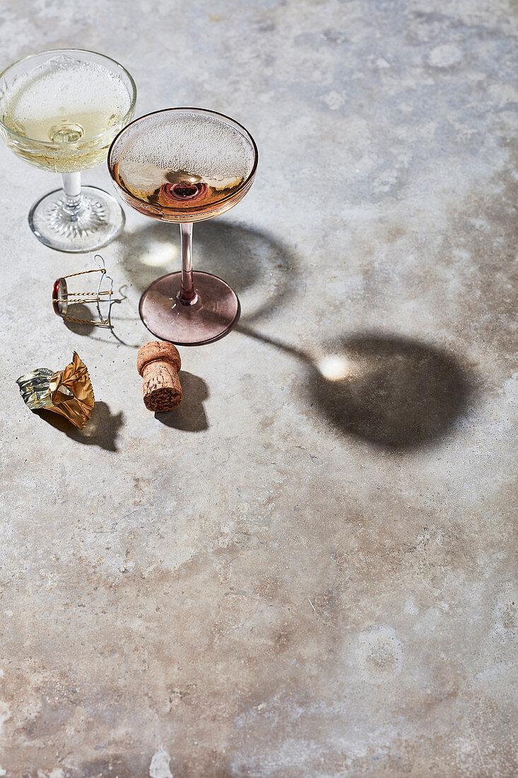 Empty champagne glass