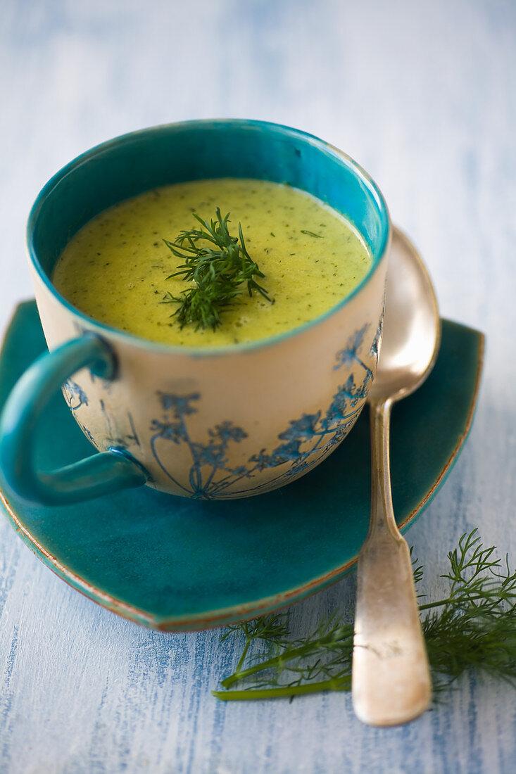 Green cucumber soup