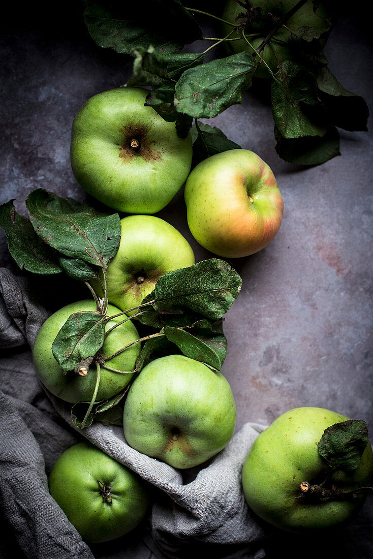 Late Summer Apple Harvest From A Garden Orchard