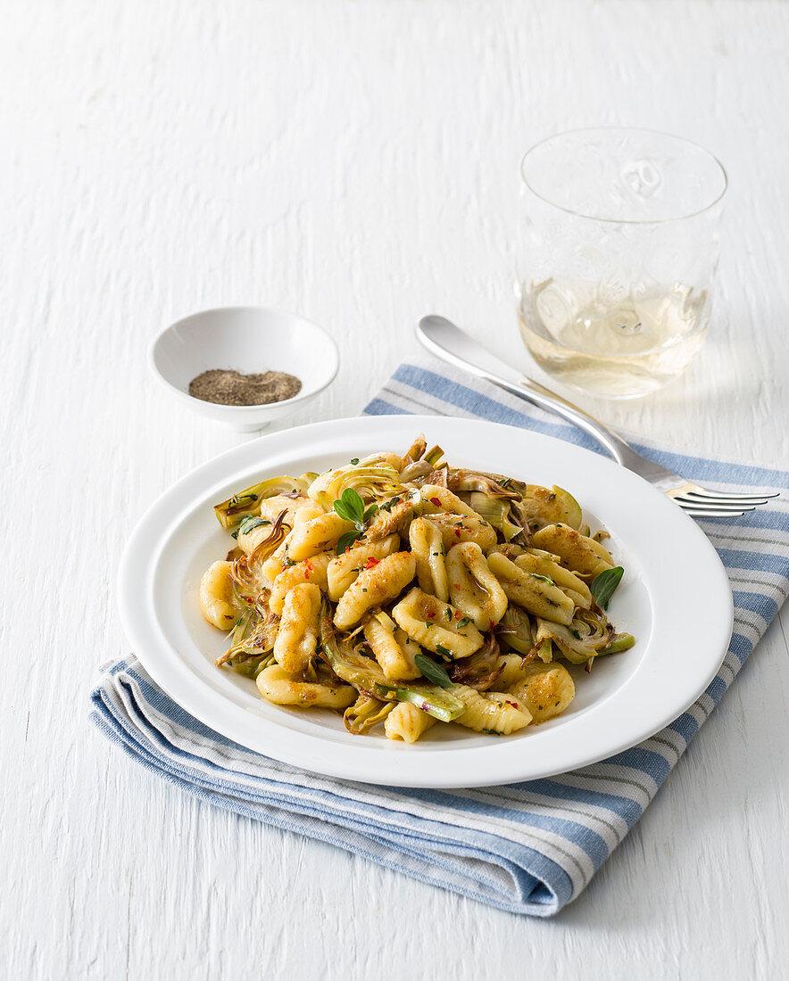 Gnocchetti with artichoke bottarga sauce