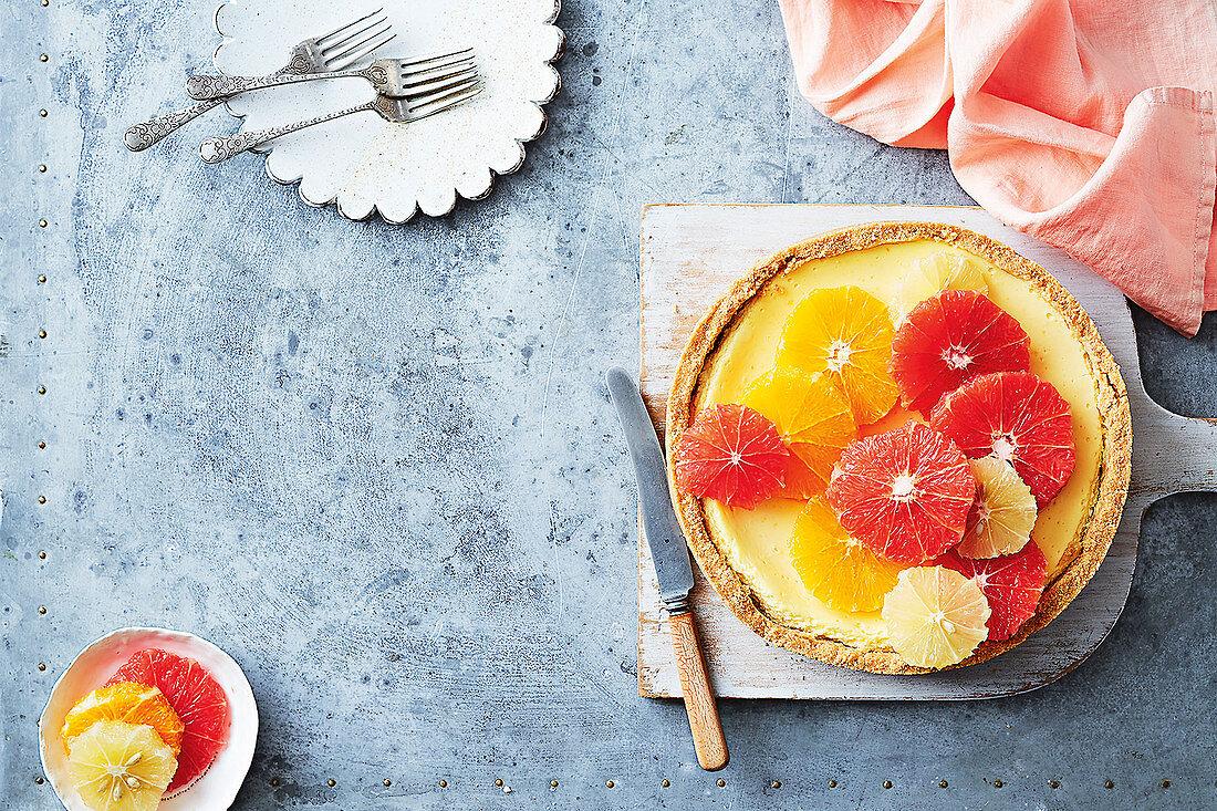 Microwave citrus cheesecake