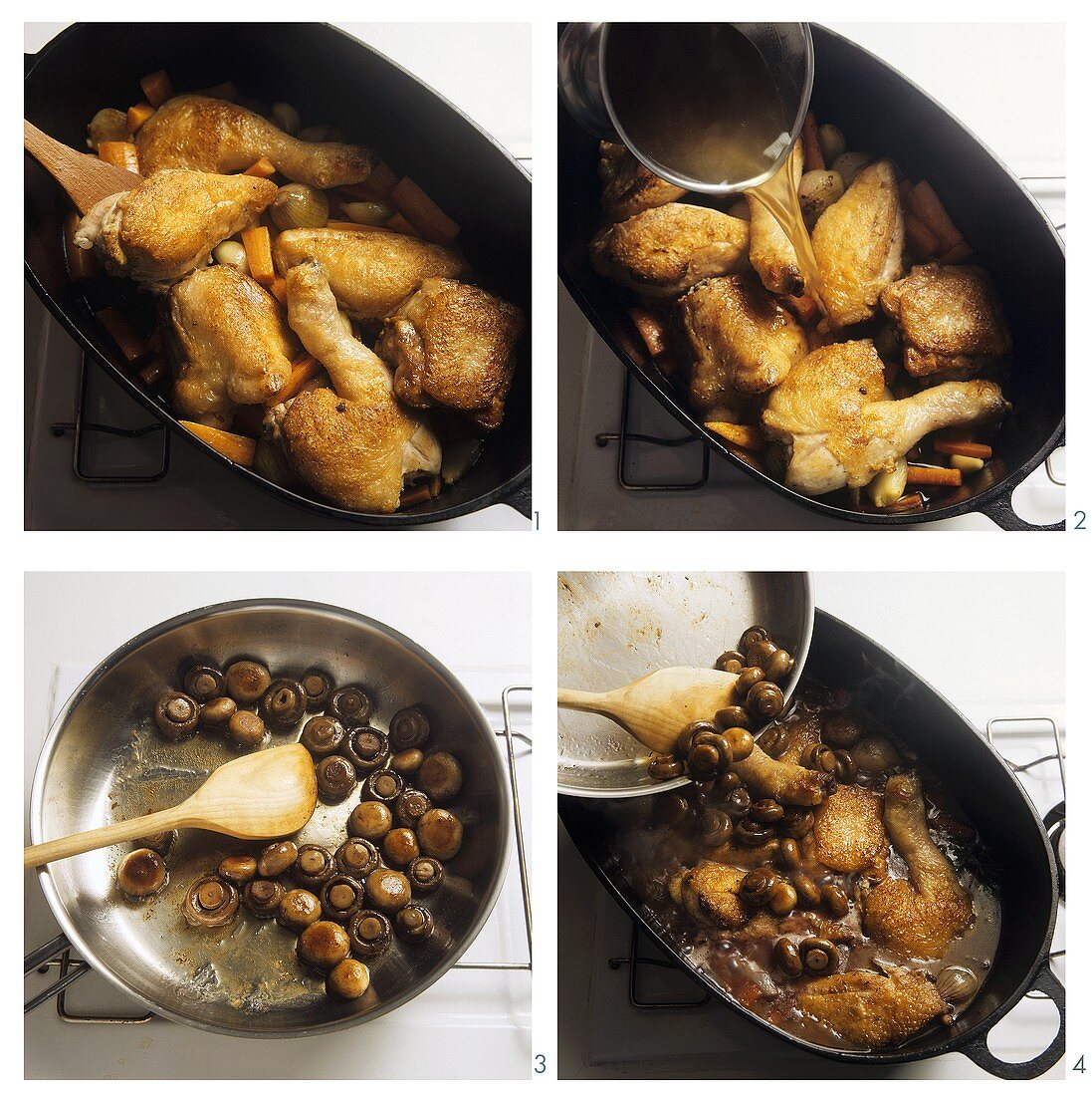 Braising poultry