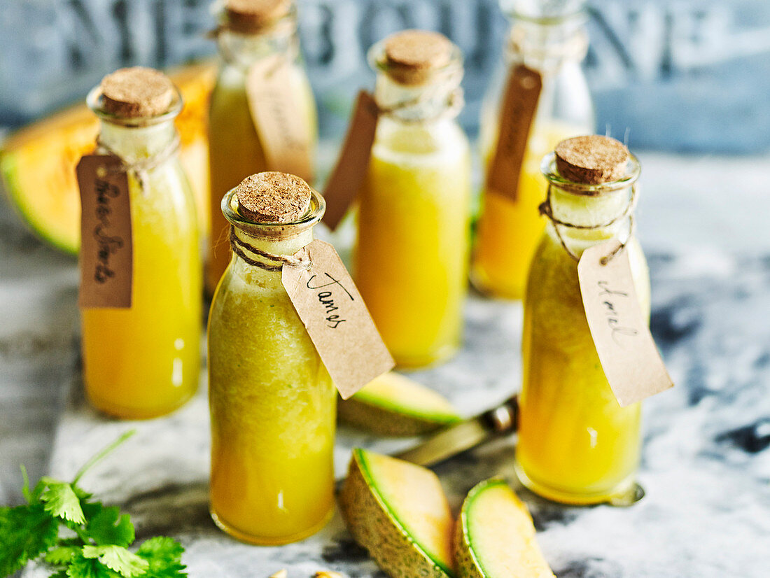 Detox rockmelon, gucumber and ginger juice