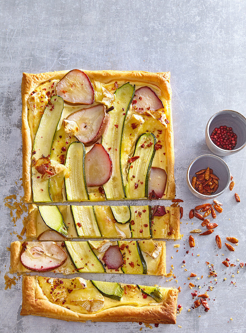 Pie with cauliflower and rosemary