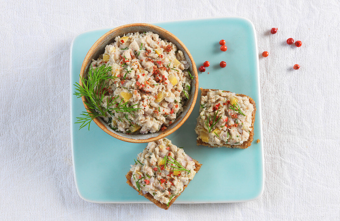 Potted mackerel on toast