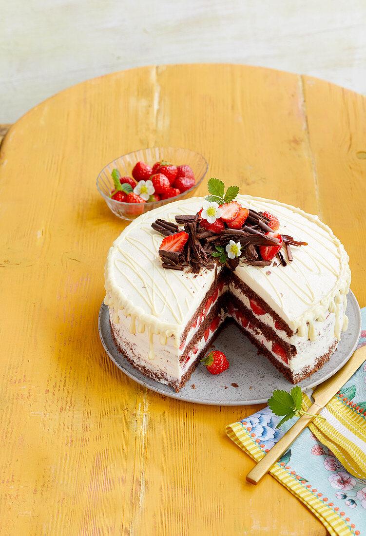 Black Forest Gateau strawberry cake