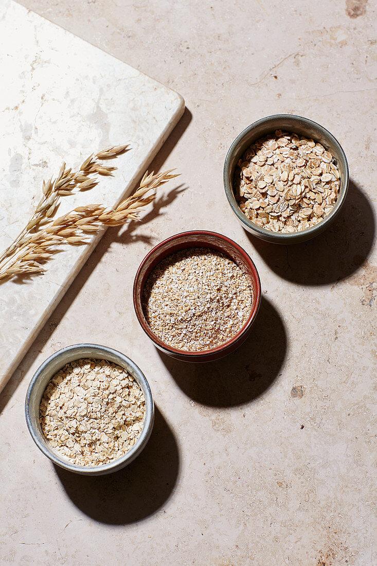 Oat dishes – coarse, fine and wholegrain oats