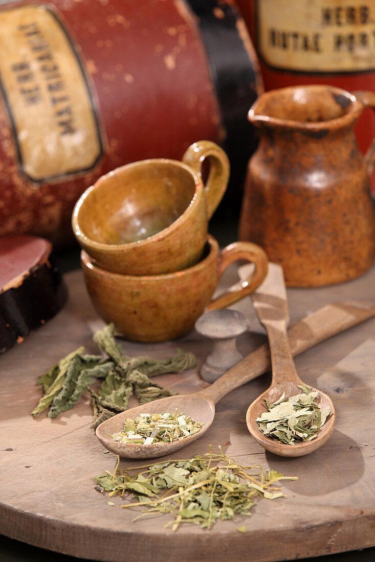 Various herbs for bubble tea