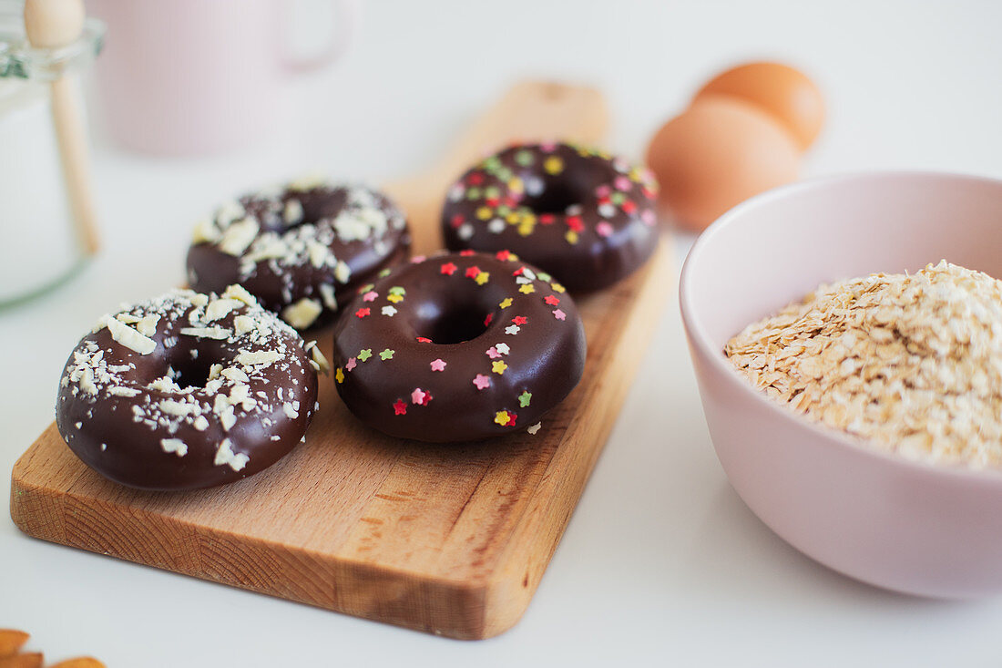 Donuts and ingredients