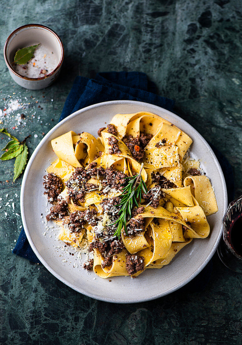 Duck ragout with homemade pappardelle