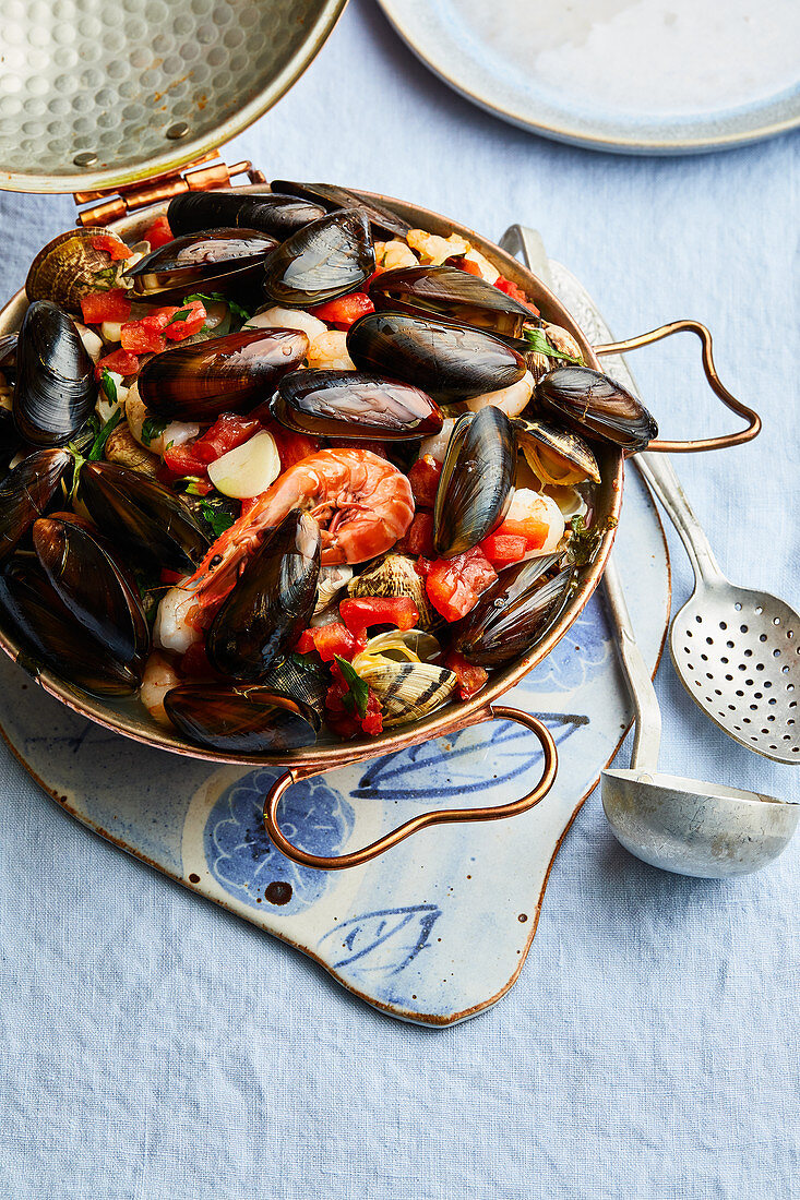 Seafood in a cataplana (Portugal)