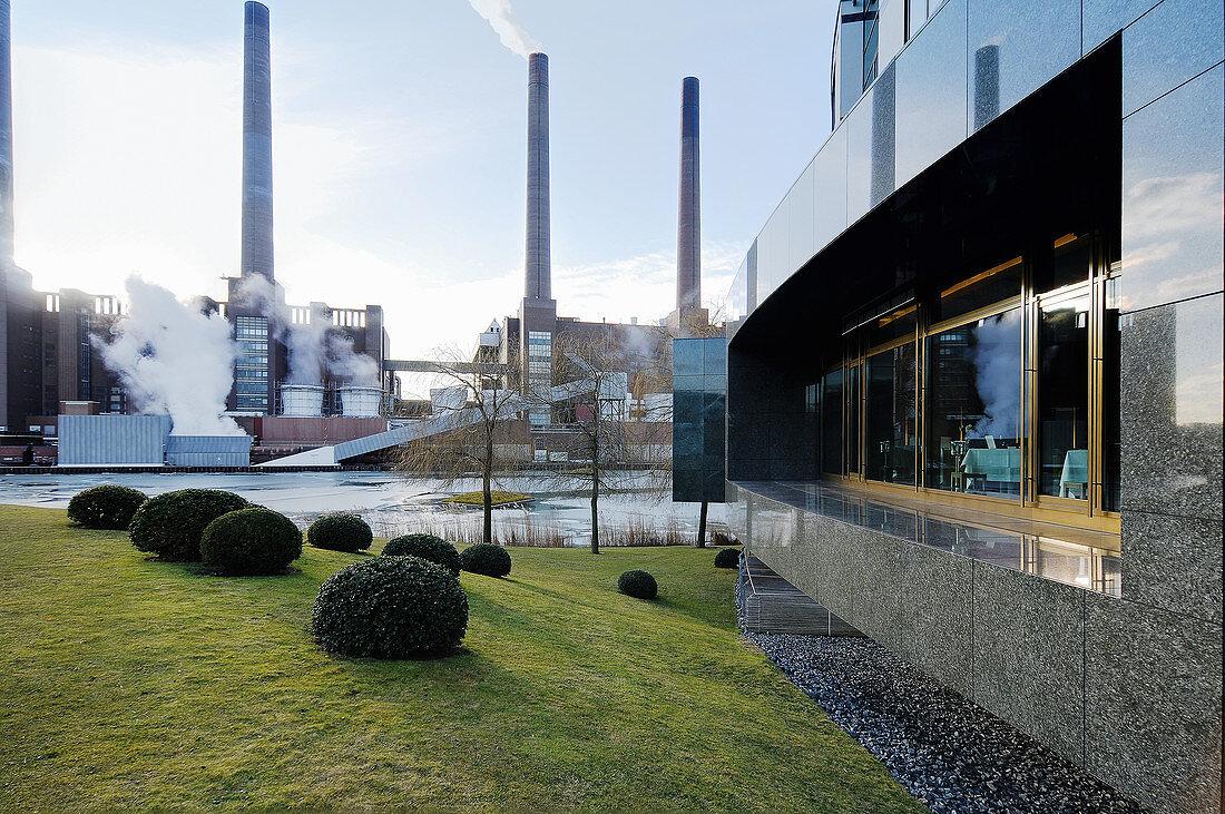 The facade at the Aqua Ritz-Carlton, Wolfsburg, Germany