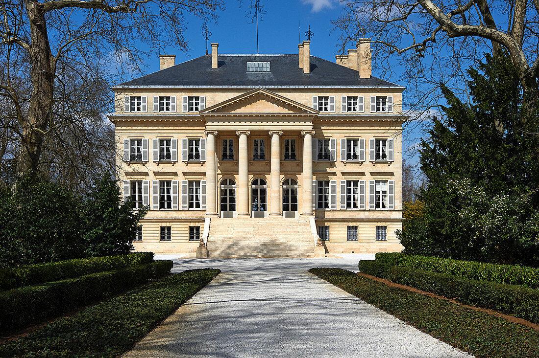 Main building, Chateau Margaux, Medoc, Bordeaux, France