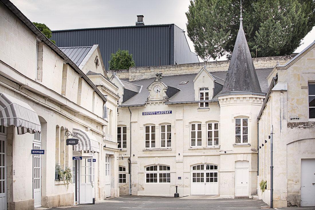 Main building Chateau Bouvet Ladubay, Saumur, Loire, France
