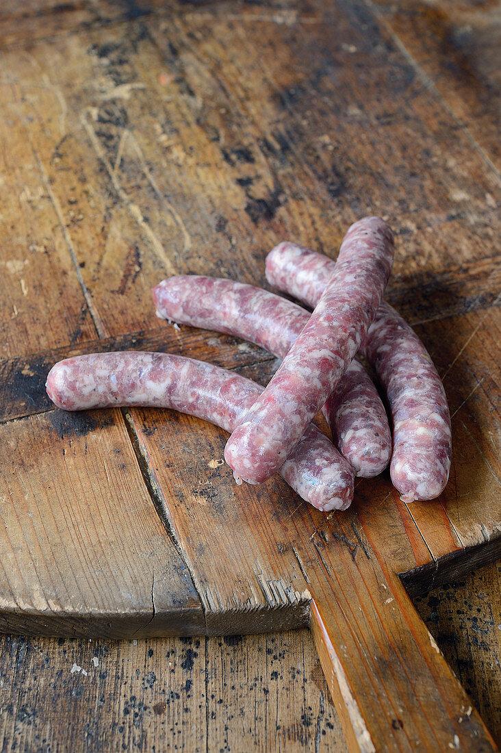 Raw salsiccia game sausages (Tuscany)