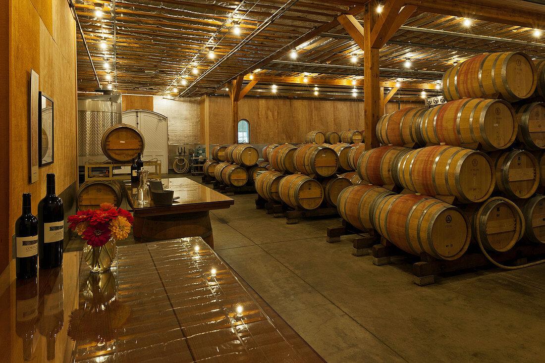 Barrique, Cathy Corison Winery, Napa Valley, California, USA