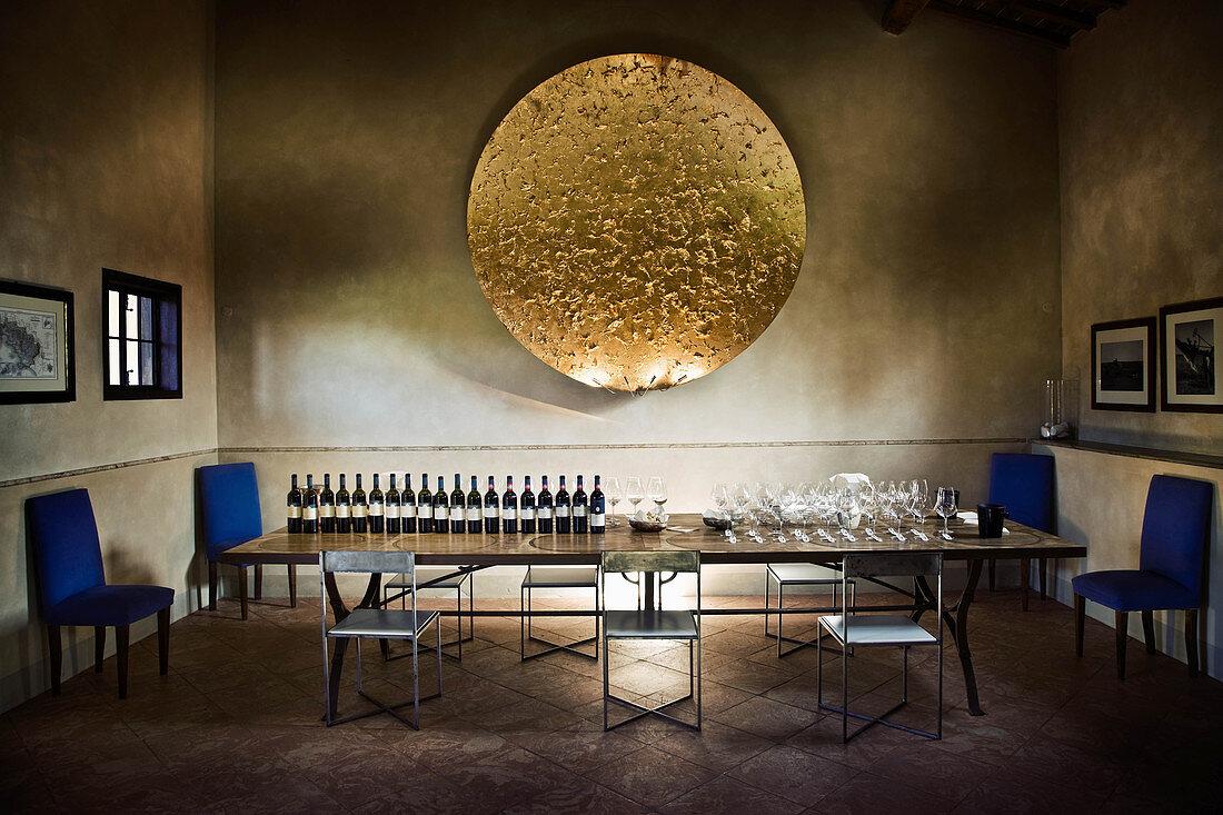 Tasting session Le Pupille vineyard, Maremma, Tuscany, Italy
